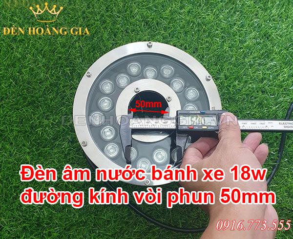 Đèn led âm nước bánh xe đường kính vòi phun 50mm