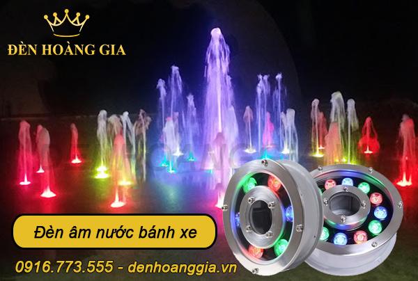 Đèn âm nước bánh xe lắp cho đài phun nước âm sàn
