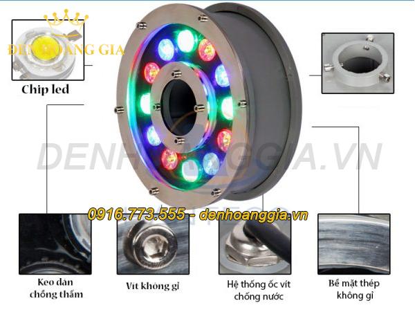 Đèn led âm nước dạng bánh xe