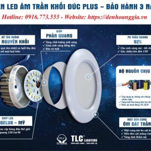 Đèn led âm trần khối đúc Plus TLC
