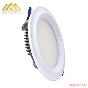 Đèn led âm trần mặt cong Nano Plast viền trắng TLC