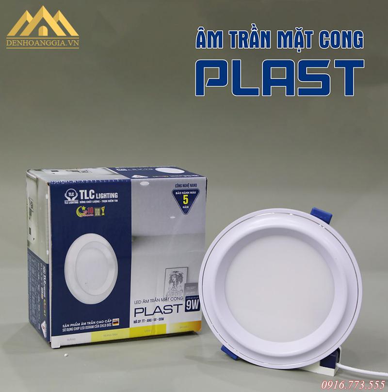Bộ đèn led âm trần mặt cong Nano Plast