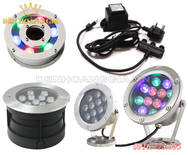 Các loại đèn led âm nước chính hãng