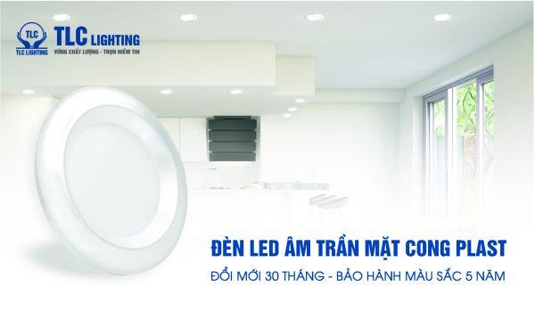Chính sách bảo hành màu sắc mặt đèn led âm trần Nano Plast 5w viền trắng của hãng TLC Lighting lên tới 5 năm