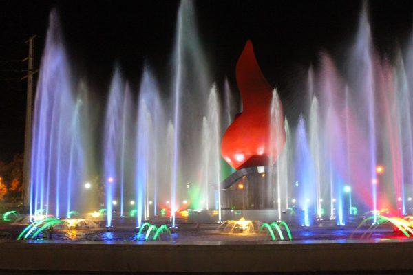 Đèn led trang trí dưới nước có nhiều màu sắc ánh sáng khác nhau tạo nên không gian đẹp, bắt mắt