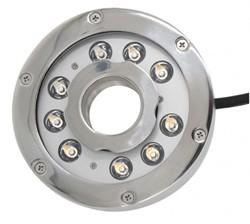 Thiết kế công suất đèn led âm nước 9w dạng bánh xe ứng dụng trong các công trình đài phun nước