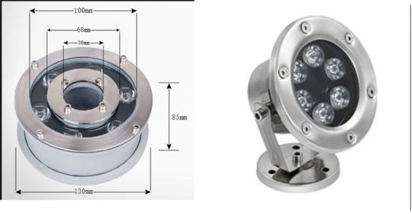 Công suất đèn led dưới nước 6w thiết kế theo hai dạng là dạng đế và dạng bánh xe
