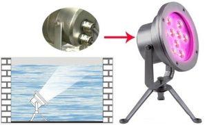 Đèn chiếu sáng dưới nước có ánh sáng chiếu điểm trung thực, rõ nét
