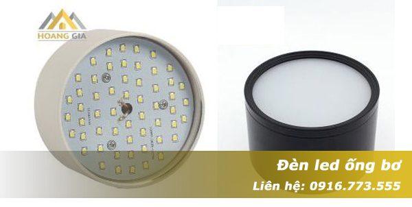 Đèn led ống bơ tán quang