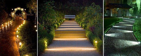 Đèn led sân vườn chiếu sáng lối đi