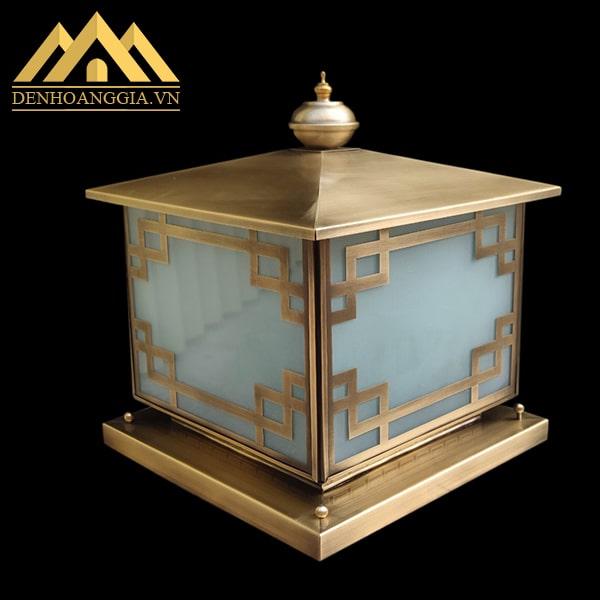 Bóng đèn trang trí cổng phong cách hiện đại bằng đồng