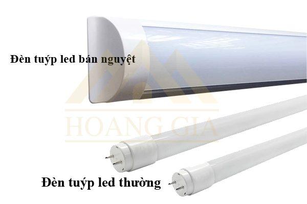 Đèn tuýp led bán nguyệt và đèn tuýp led thường