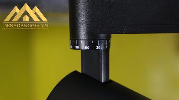 Đèn led rọi ray ZOOM 20w vỏ đen TLC dễ dàng điều chỉnh góc xoay với độ xoay ngang lên tới 360 độ