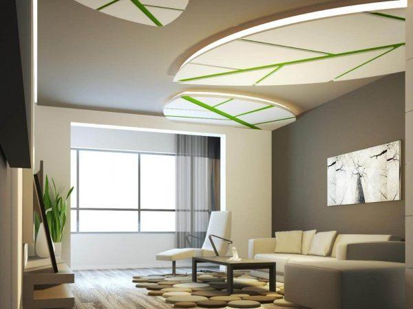 trần thạch cao phòng khách ấn tượng cho căn hộ chung cư