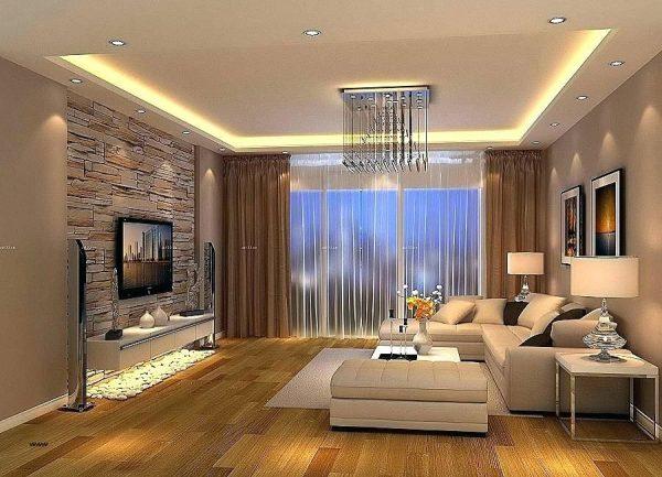Trần thạch cao phòng khách đơn giản mà hiện đại