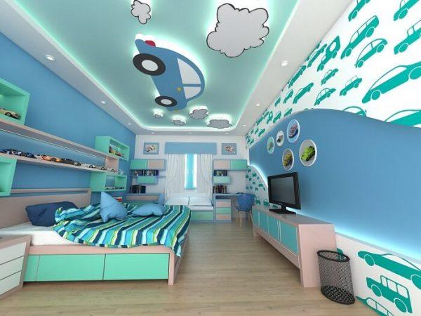 Mẫu trần thạch cao cho phòng ngủ của bé số 01
