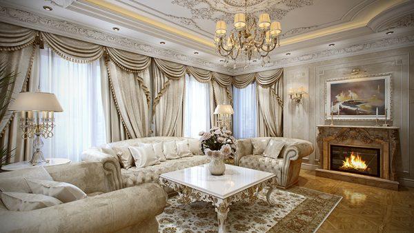 Mẫu phòng khách cổ điển số 4