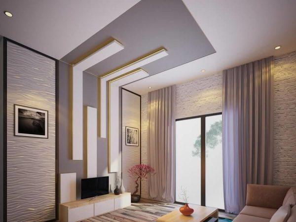 Trần thạch cao cho không gian phòng khách nhỏ