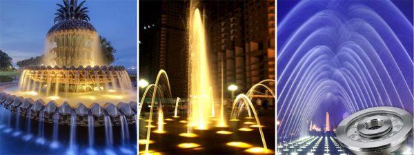 Đèn led gắn dưới nước đem lại nhiều hiệu ứng khác nhau cho từng không gian
