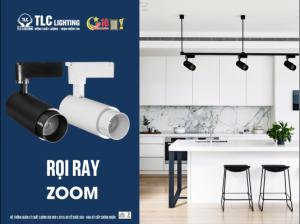 Đèn led rọi ray ZOOM 10w vỏ đen TLC ứng dụng vào nhiều không gian khác nhau như nhà ở, cửa hàng, shop thời trang,...