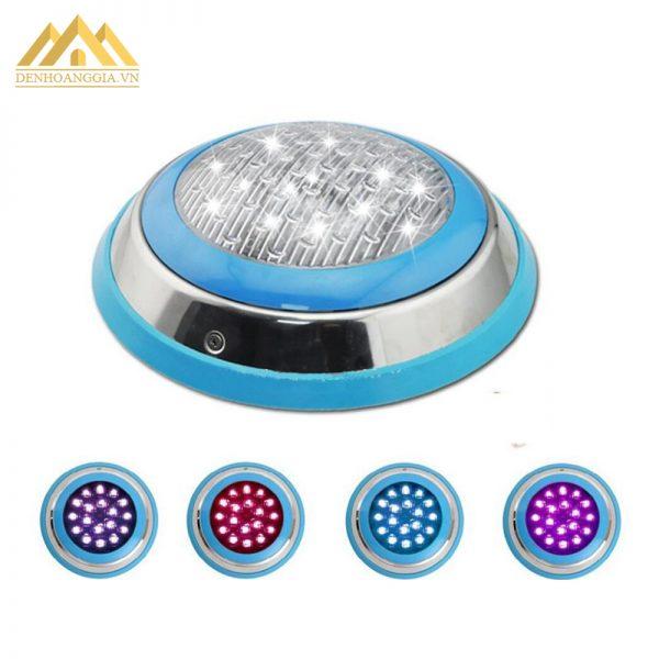 Đèn led bể bơi 12w đơn màu có nhiều màu sắc ánh sáng để khách hàng dễ dàng chọn lựa