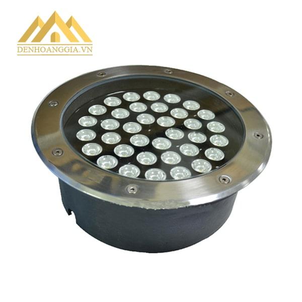 Đèn led âm đất 36w tròn có thân đèn bằng đế tản nhiệt bằng hợp kim nhôm giúp đèn tỏa nhiệt nhanh