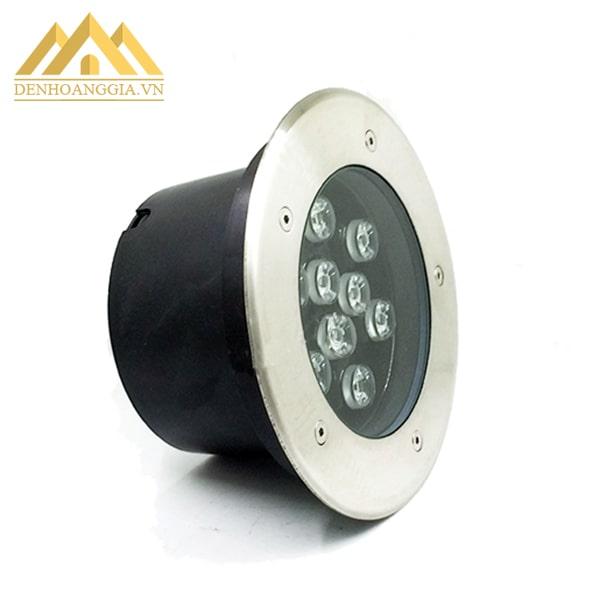 Mặt đèn led âm đất 12w tròn chống va đập tốt nhờ có lớp kính cường lực cao cấp