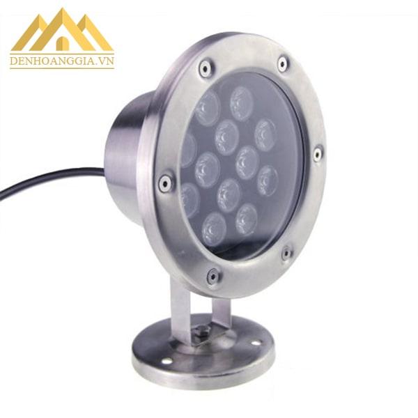 Đèn led âm nước spotlight 12w dạng đế chỉnh góc chiếu sáng