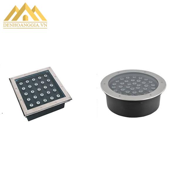 Đèn led âm sàn, âm đất có hai loại: đèn led âm đất tròn và đèn led âm đất vuông