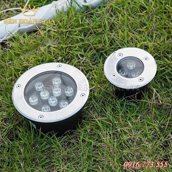 Đèn led âm sàn bê tông hình tròn