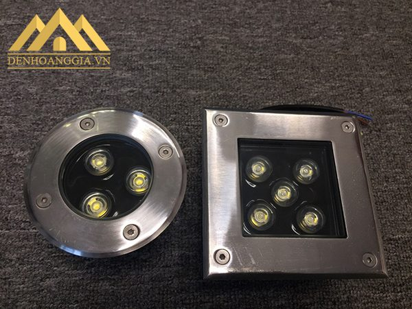 Đèn âm đất hoạt động trong môi trường dưới đất, sàn nhà tạo ánh sáng chiếu hắt từ dưới lên