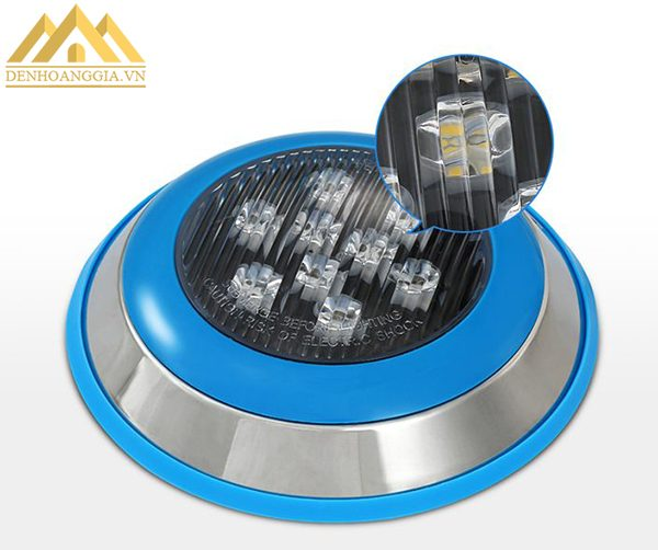 Đèn led bể bơi 12w có thiết kế bề mặt chống thấm nước bằng kính cường lực cao cấp