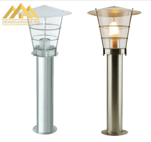 Thân đèn trụ sân vườn được làm bằng nhiều chất liệu khác nhau