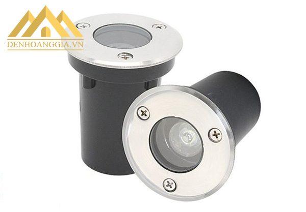 Thiết kế đèn led âm đất 1w tròn có đế tản nhiệt nhanh bảo vệ tốt hệ thống chip led đem lại nguồn ánh sáng ổn định, không chớp nháy