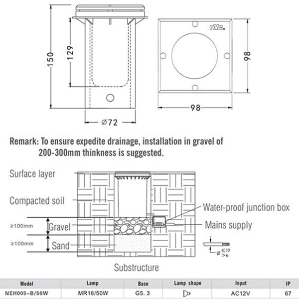 Hướng dẫn lắp đặt đèn âm đất ( âm sàn) an toàn