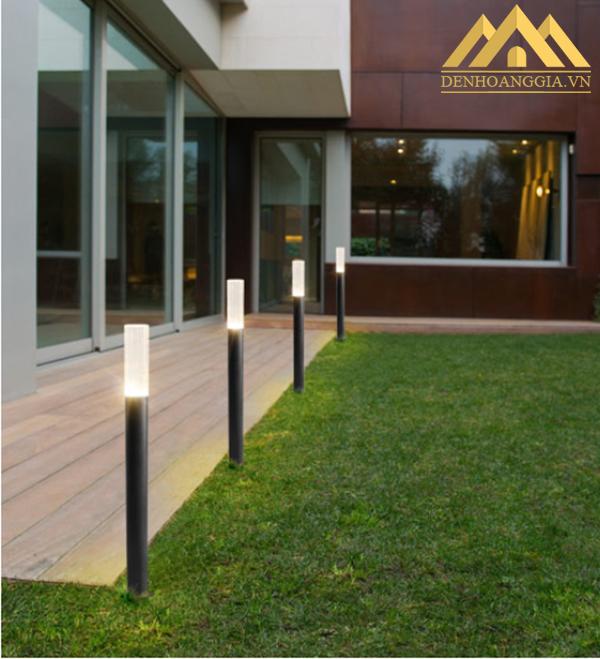 Lắp đặt đèn trụ sân vườn HGA-TSV49 trong không gian ngoại thất của các khu nghỉ dưỡng