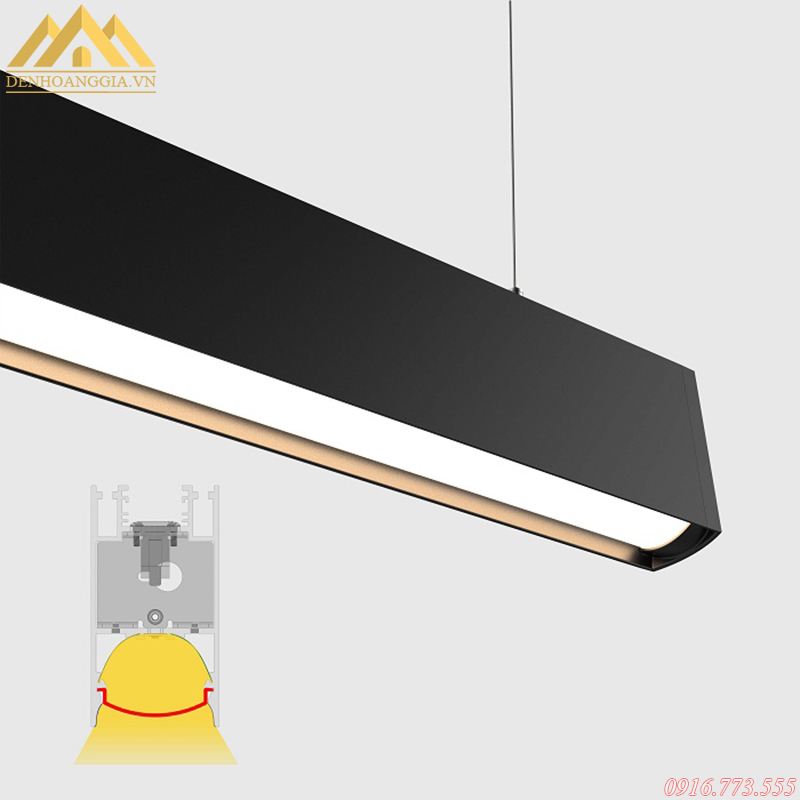 Đèn led thả trần văn phòng có ánh sáng tự nhiên, rõ nét