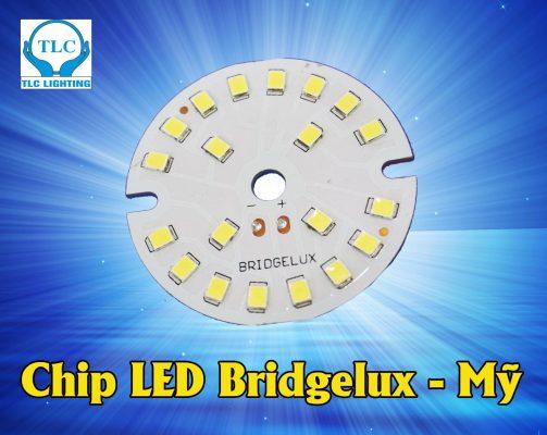Chip led Bridgelux sử dụng cho đèn led âm trần mặt cong đế mỏng