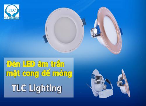 Đèn led âm trần mặt cong đế mỏng TLC Lighting
