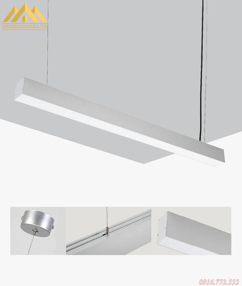 Đèn led thả trần văn phòng vỏ trắng