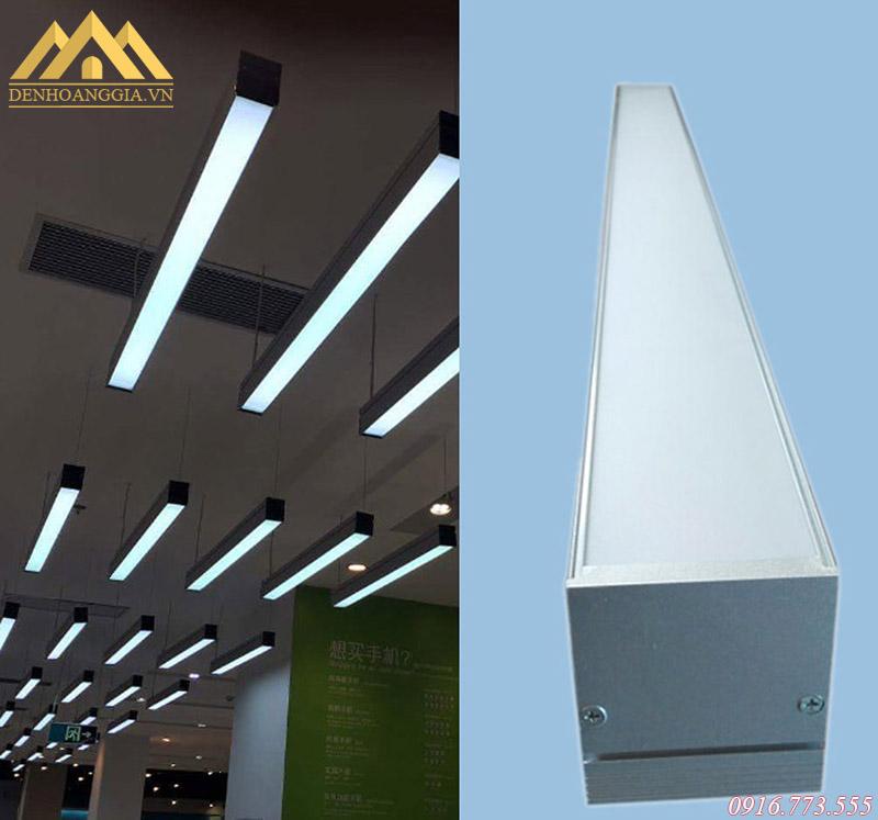 Thiết kế mẫu đèn led thả trần văn phòng đơn giản, dễ lắp đặt