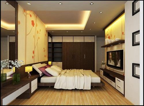 Lắp đặt đèn led âm trần mặt cong đế mỏng trong phòng ngủ