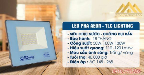 Thông số kỹ thuật đèn pha led Aeon