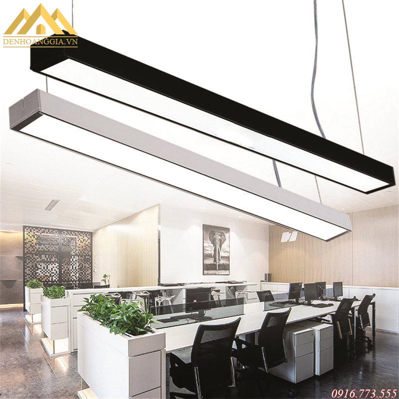 Đèn led thả văn phòng có hai màu sơn tĩnh điện trắng và đen