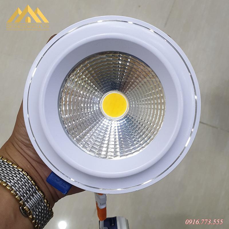Mặt đèn led âm trần mặt cong Nano COB Plast