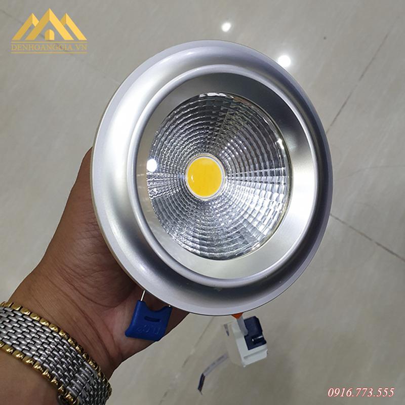 Đèn led âm trần Nano COB Platinum 7w viền bạch kim