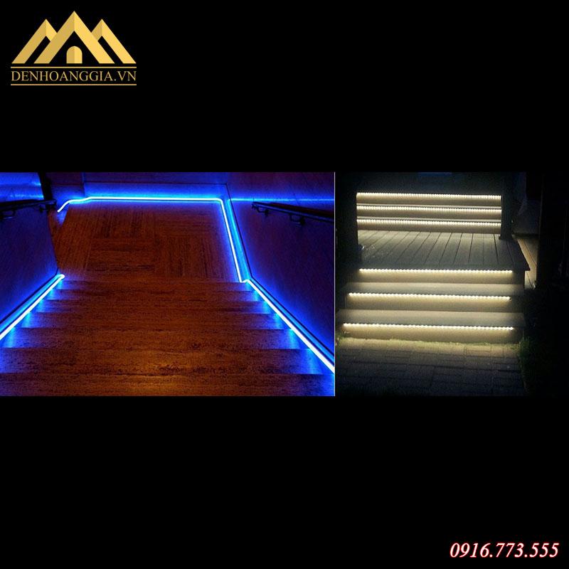 Sử dụng đèn led dây lắp bậc chân cầu thang