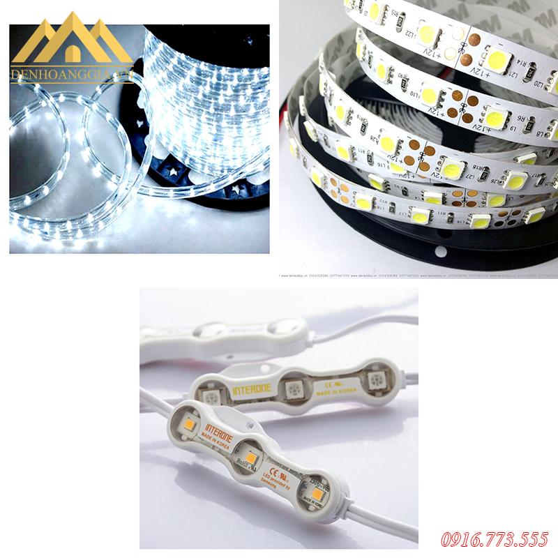 Một số loại đèn led dây lắp bậc chân cầu thang