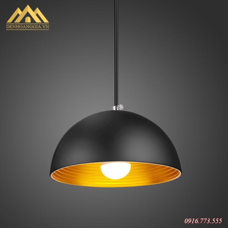 Đèn thả trần hợp kim HGA-TH069 thiết kế bên trong lòng màu vàng đồng