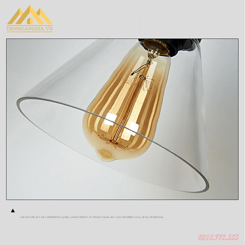 Đèn thả trần chao thủy tinh Rolux-TH044